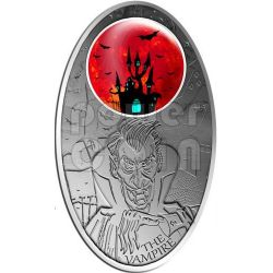 VAMPIRE Mystical Creatures Windows Silver Coin 10$ Fiji 2012