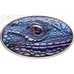 BLUE IGUANA XL Ultra High Relief Silver Coin 2$ Niue 2012