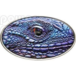 IGUANA BLU Blue XL Ultra High Relief Moneta Argento 2$ Niue 2012