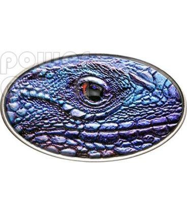 IGUANA BLU Blue XL Ultra High Relief Moneta Argento 2$ Niue 2012