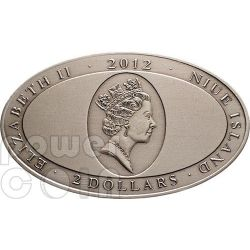BLUE IGUANA XL Ultra High Relief Moneda Plata 2$ Niue 2012