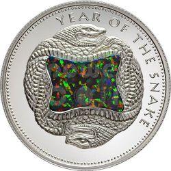 SNAKE OPAL GILSON Chinese Lunar Year Silver Coin 10$ Fiji 2013