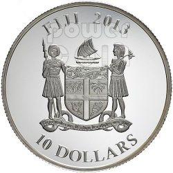 SNAKE OPAL GILSON Chinese Lunar Year Moneda Plata 10$ Fiji 2013