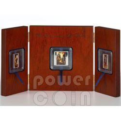 RESURRECTION OF CHRIST Triptych Peter Paul Rubens 3 Moneda Plata Set 1$ 2$ Tokelau 2012