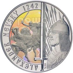 ALEXANDER NEVSKY Saint Of Russian Orthodox Church Silver Proof Coin 1$ Niue 2012