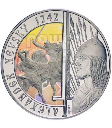 ALEXANDER NEVSKY Santo Chiesa Ortodossa Moneta Argento Proof 1$ Niue 2012