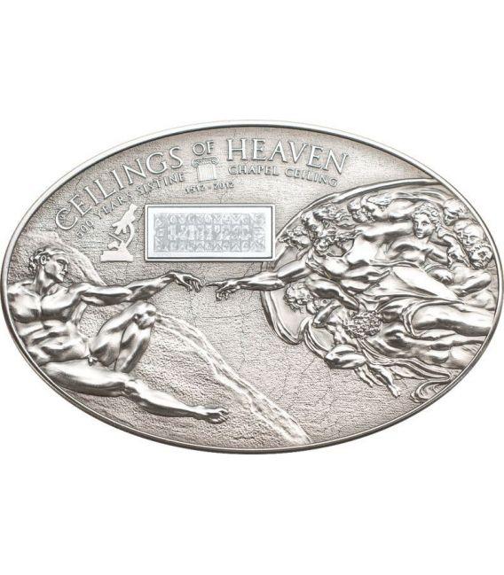 NANO SISTINE CHAPEL Ceilings of Heaven Серебро Монета 5$ Острова Кука 2012