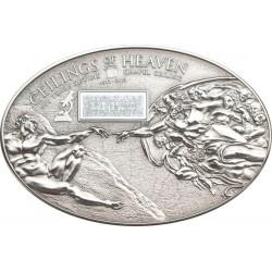 NANO SISTINE CHAPEL Ceilings of Heaven Moneda Plata 5$ Cook Islands 2012