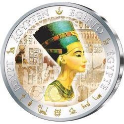 NEFERTITI Gilded Egypt Queen Nofretete Silver Coin 1$ Fiji 2012