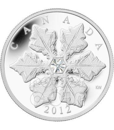SNOWFLAKE CRISTALLO Moneta Argento Swarovski 20$ Canada 2012