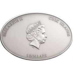 NANO SISTINE CHAPEL Ceilings of Heaven Moneda Plata 5$ Cook Islands 2012