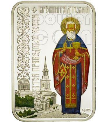 SAN GIOVANNI DA KRONSTADT Santi delle Città Chiesa Ortodossa Moneta Argento 1$ Niue 2012