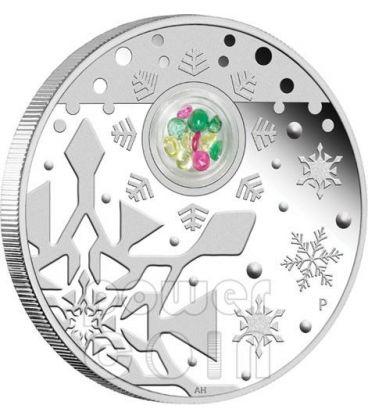 SANTO NATALE Christmas Locket Medaglione Moneta Argento 1$ Australia 2012