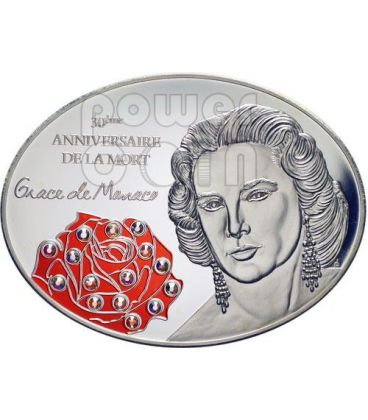 GRACE KELLY 30 Anniversario Morte Moneta Argento 10$ Fiji 2012