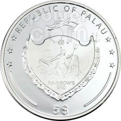 SALTWATER CROCODILE Silber Münze Swarovski 5$ Palau 2007