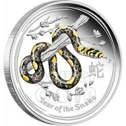 SNAKE Lunar Year Series 1 Kg Kilo Coloured Silber Proof Münze 30$ Australia 2013