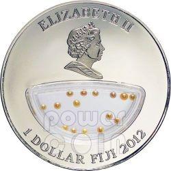 PINK PEARLS Treasures Of Mother Nature Vietnam Silber Proof Locket Münze 1$ Fiji 2012