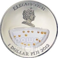 PINK PEARLS Treasures Of Mother Nature Vietnam Silver Proof Locket Coin 1$ Fiji 2012