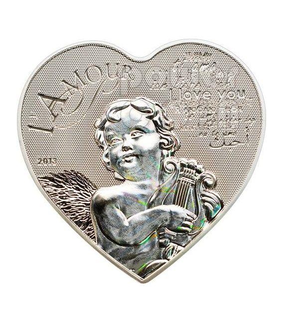HEART OF LOVE Ologramma Moneta Argento 1000 Franchi Camerun 2013