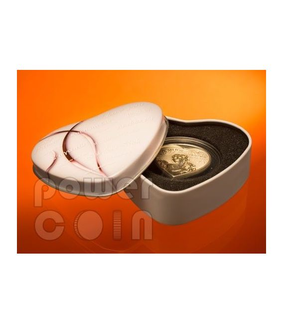 HEART OF LOVE Hologram Silver Coin 1000 Francs Cameroon 2013