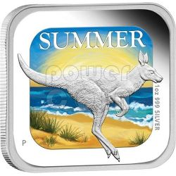 ESTATE Summer Australian Seasons Moneta Argento 1$ Australia 2013