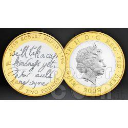 ROBERT BURNS 250th Anniversary BU Münze Pack UK Royal Mint 2009
