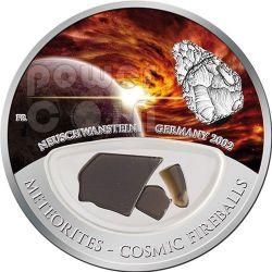 METEORITE NEUSCHWANSTEIN Cosmic Fireballs Silver Proof Locket Coin 10$ Fiji 2012