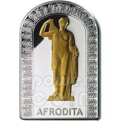 AFRODITE GODDESSES OF LOVE Pantheon Series I Silver Coin 10D Andorra 2012