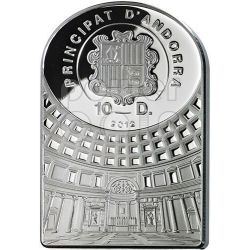AFRODITE GODDESSES OF LOVE Pantheon Series I Moneda Plata 10D Andorra 2012