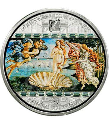 BIRTH OF VENUS Sandro Botticelli 3 Oz Silver Coin 20$ Cook Islands 2008