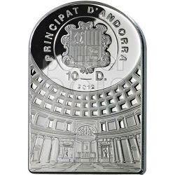 BENTEN DEE DELL'AMORE Pantheon Serie I Moneta Argento 10D Andorra 2012
