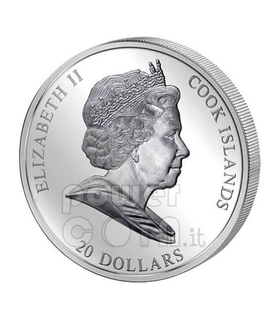BIRTH OF VENUS Sandro Botticelli 3 Oz Серебро Монета 20$ Острова Кука 2008