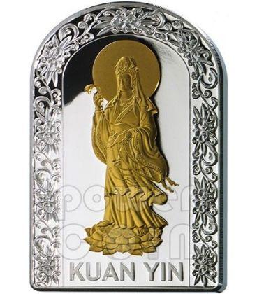 KUAN YIN GODDESSES OF LOVE Pantheon Series I Silver Coin 10D Andorra 2012