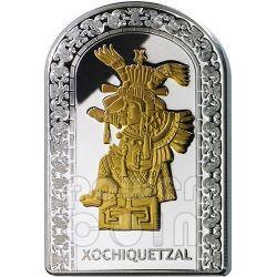 XOCHIQUETZAL DEE DELL'AMORE Pantheon Serie I Moneta Argento 10D Andorra 2012