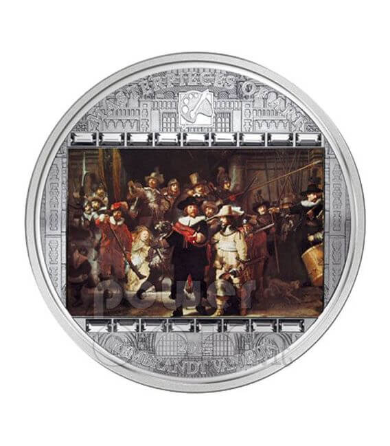 REMBRANDT Nightwatch 3 Oz Silber Münze 20$ Cook Islands 2009