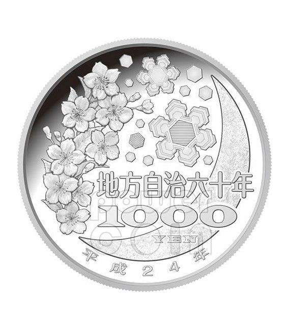 TOCHIGI 47 Prefetture (23) Moneta Argento 1000 Yen Giappone 2012