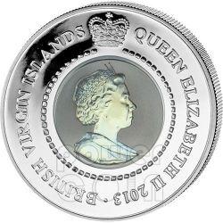 SNAKE TITANIUM Chinese Lunar Year Серебро Монета 10$ Британские Виргинские Острова 2013