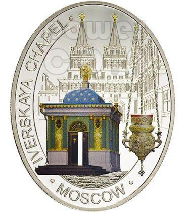 CAPPELLA IBERICA MOSCA Iverskaya Chapel Moscow Chiesa Ortodossa Moneta Argento 1$ Niue 2012