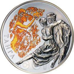 TANGO Magia Danza Argentina Moneta Argento Bielorussia 2012