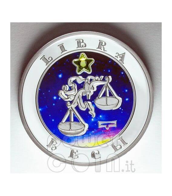 BILANCIA Oroscopo Zodiaco Zircone Moneta Argento Armenia 2008