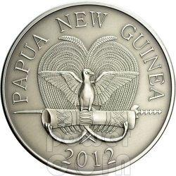 FORMICHIERE SPINOSO Spiny Anteater Diamanti Neri Moneta Argento 5 Kina Papua Nuova Guinea 2012
