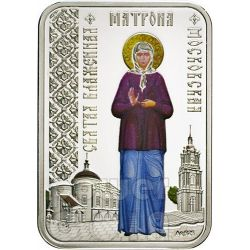 MATRONA OF MOSCOW Saints Of The Cities Russian Orthodox Church Silver Coin 1$ Niue 2012