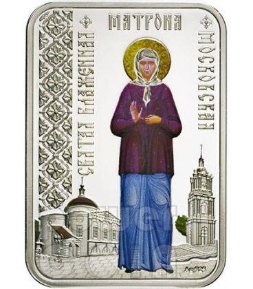 MATRONA DI MOSCA Santi delle Città Chiesa Ortodossa Moneta Argento 1$ Niue 2012