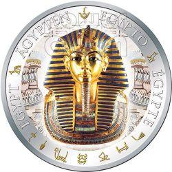 TUTANKHAMUN Gilded Egypt Queen Silver Coin 1$ Fiji 2012