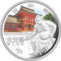 OITA 47 Prefectures (24) Silber Proof Münze 1000 Yen Japan 2012