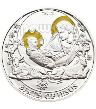 BIRTH OF JESUS Biblical Stories Silver Coin 2$ Palau 2012