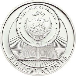BIRTH OF JESUS Biblical Stories Moneda Plata 2$ Palau 2012