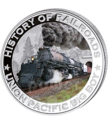 BIG BOY Locomotiva Vapore Union Pacific Ferrovia Moneta Argento 5$ Liberia 2011