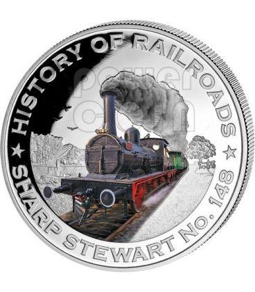 SHARP STEWART No. 148 Bulgaria Locomotiva Ferrovia Moneta Argento 5$ Liberia 2011