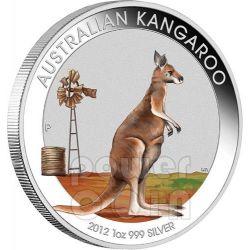 CANGURO AUSTRALIANO Kangaroo Esposizione Internazionale Beijing Outback Moneta Argento Proof 1 Oz 1$ Australia 2012